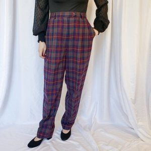 PENDLETON Vintage Plaid High Waisted Wool Pants
